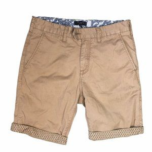 TED BAKER Men's Tan Chino-Style Bermuda Shorts 30R